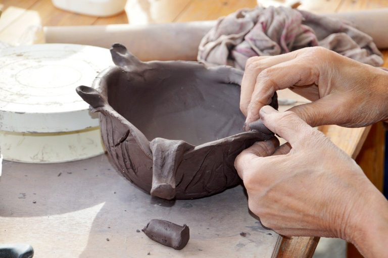 crafts, pottery, hand
